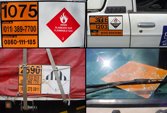 examples of illegal dangerous goods placarding