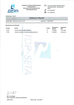 dangerous goods training certificate