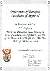 accredited hazardous goods training